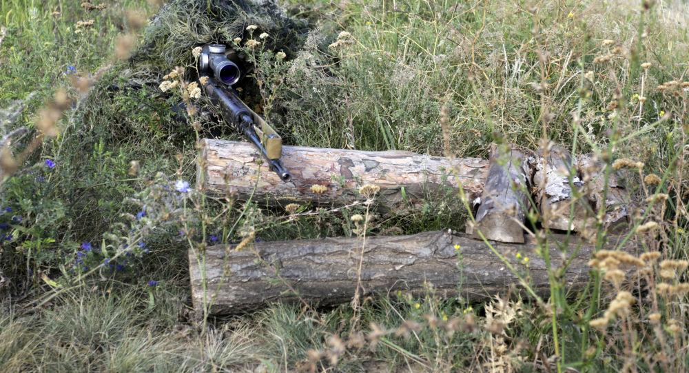 乌军狙击手