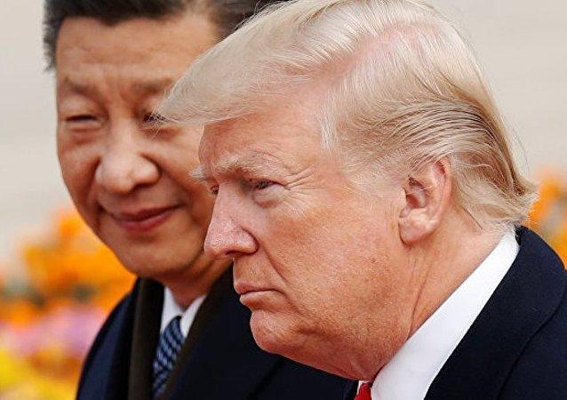 中國國家主席習近平9日與美國總統特朗普