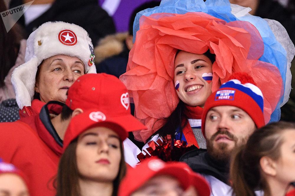 冬奥会上的俄罗斯啦啦队