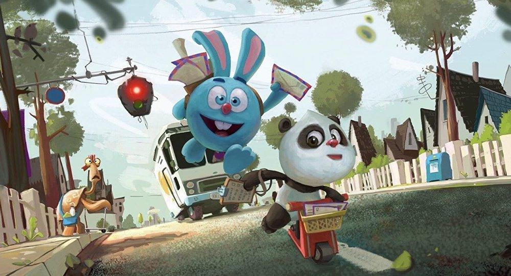 動畫片「熊貓和開心球」