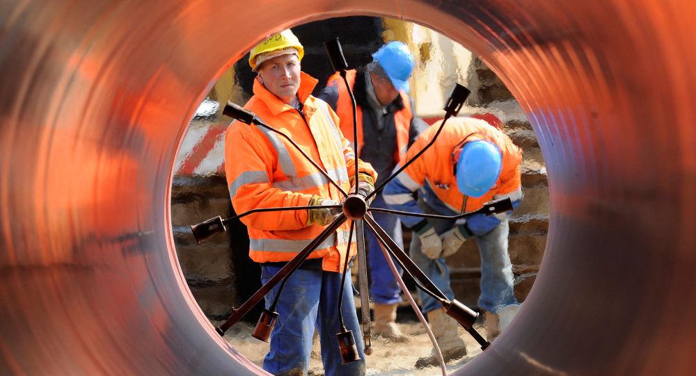 """德国经济部:""""北溪-2""""项目将为稳定欧洲天然气的供应做出贡献"""