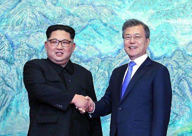 朝韩领导人首次会晤
