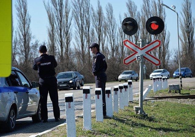 俄罗斯阿穆尔州发生卡车与火车相撞事故