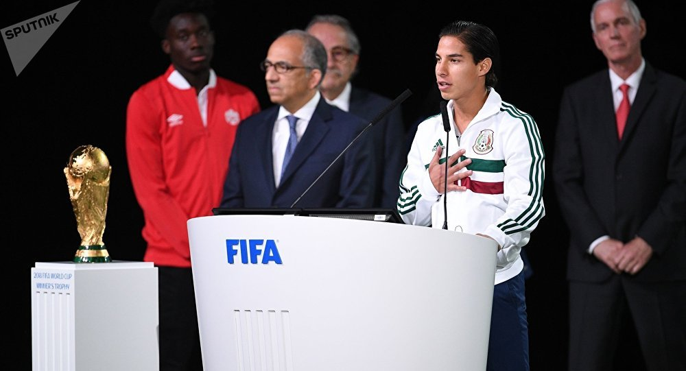 根據在莫斯科舉行的國際足聯大會的投票結果,2026世界杯將首度在美加墨三個國家舉行