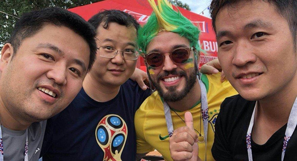 与巴西球迷