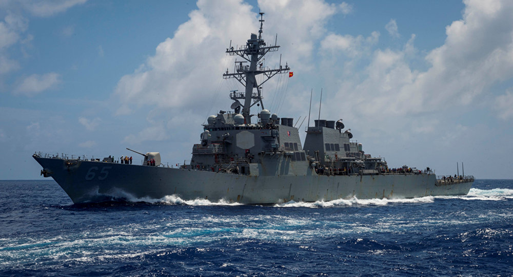 """美国""""本福德""""号导弹驱逐舰"""
