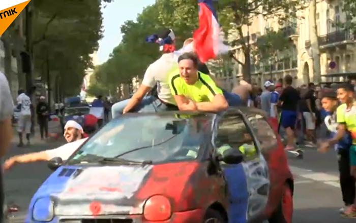 法國慶祝在2018世界杯上獲勝