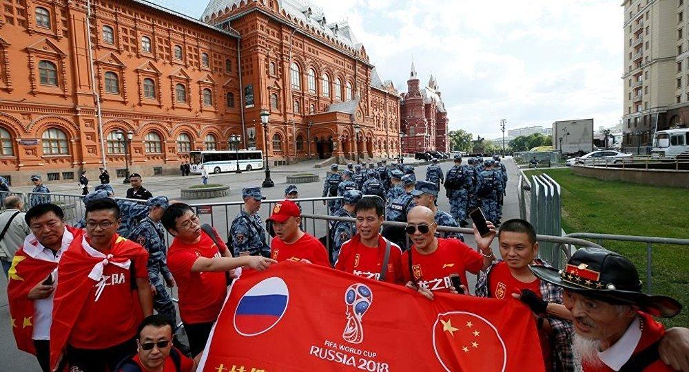 2018年世界杯足球賽期間22.3萬名中國遊客到訪莫斯科