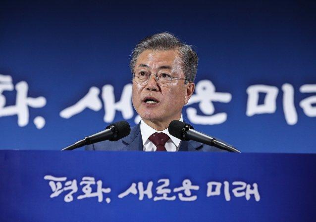 文在寅称朝鲜半岛和平条约在实现无核化后才能签署