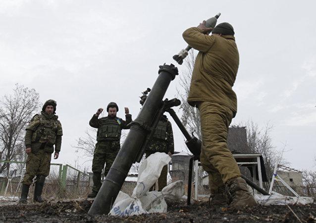 頓涅茨克人民共和國稱摧毀烏克蘭武裝部隊在頓巴斯的迫擊炮陣地