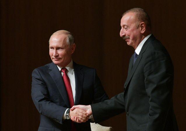 普京與阿塞拜疆總統阿利耶夫