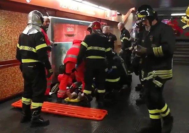 罗马地铁扶梯事故