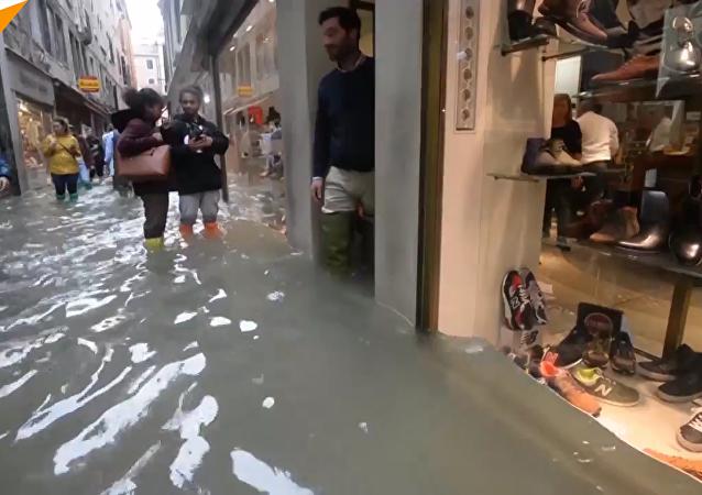 10年來最嚴重洪災:威尼斯70%被淹