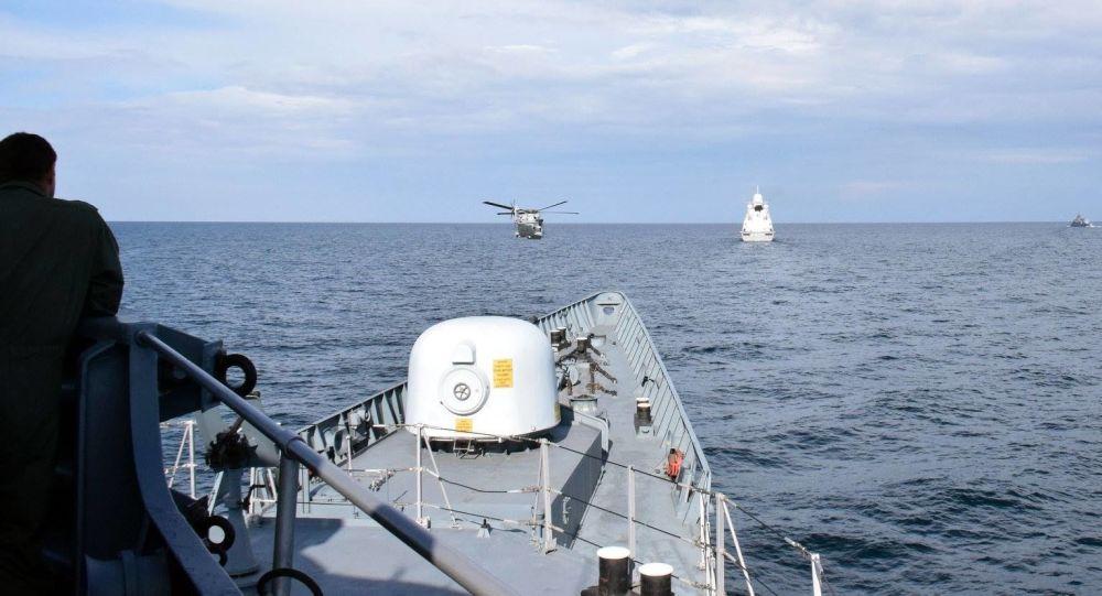 乌克兰海军和北约舰艇在黑海开展联合训练
