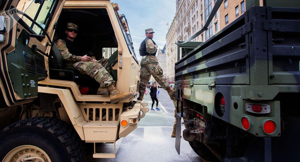 美国国民警卫队士兵