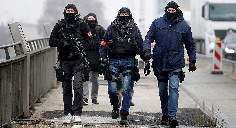 法国特种部队人员在斯特拉斯堡 (2018.12.12)