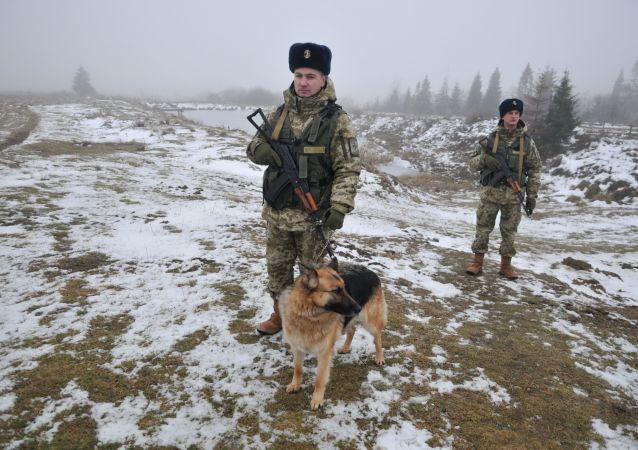 乌克兰边防军人