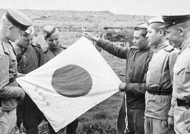 撤退期间被丢弃的日本国旗