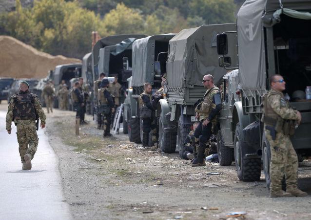 北约领导的驻科索沃国际安全部队已抵达科北部检查站