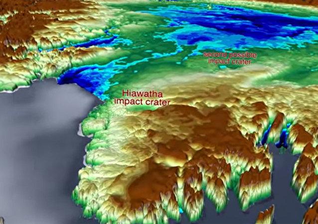 在格陵兰岛的冰川下发现了第二个巨大的陨石坑