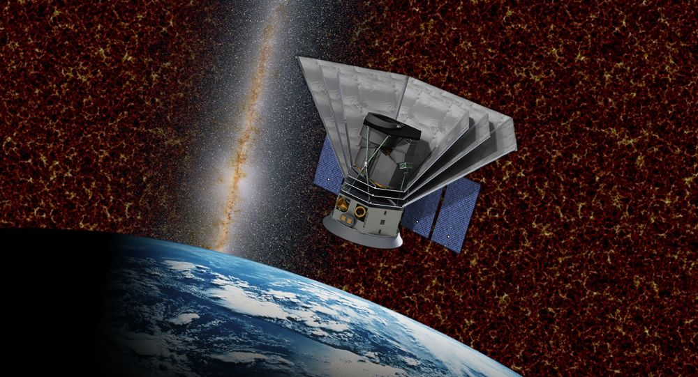 Так художник представил себе зонд SPHEREx, изучающий ранние эпохи жизни Вселенной