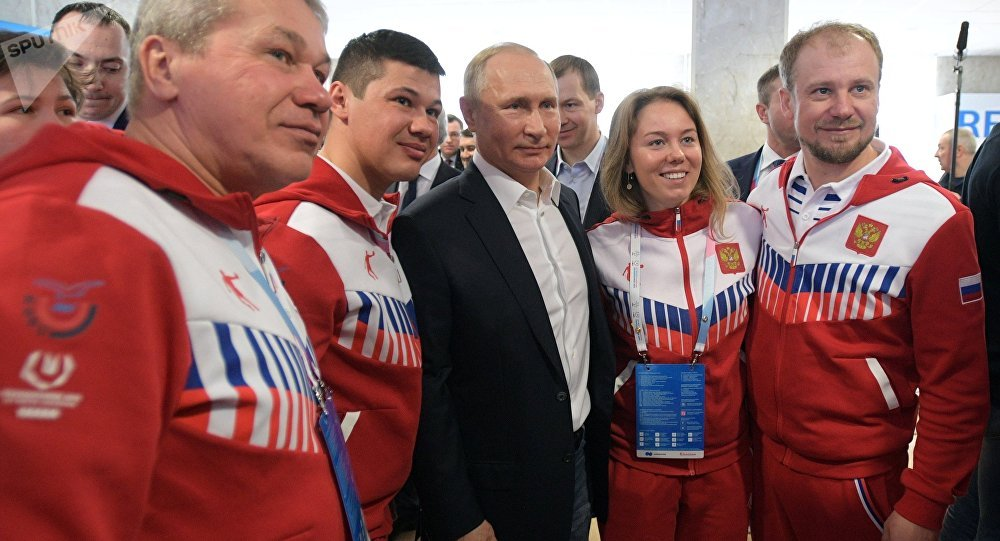 普京承诺关注俄地区体育运动的发展