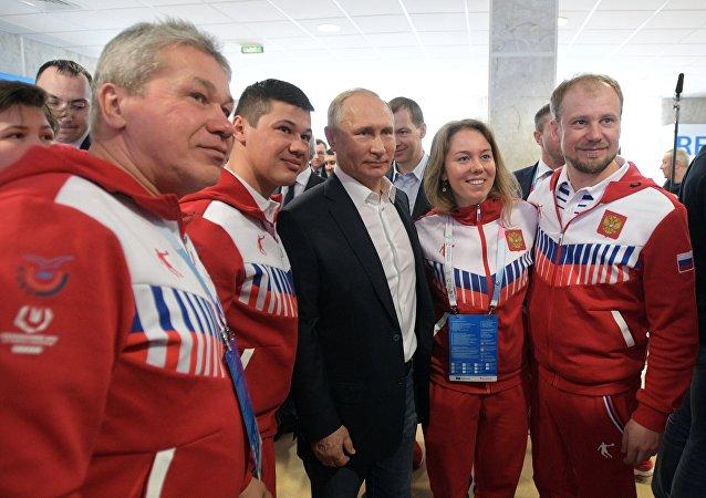 普京承諾關注俄地區體育運動的發展