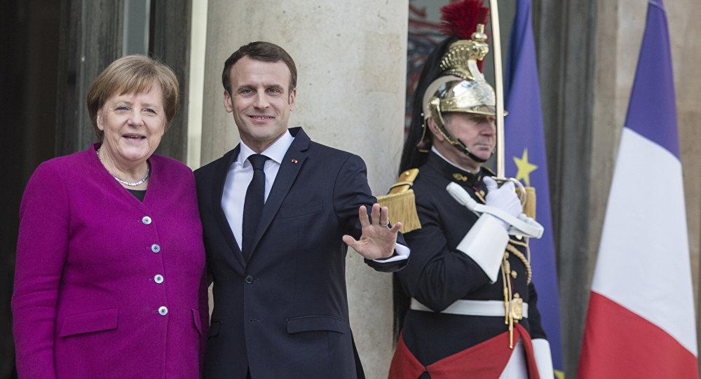 德國總理默克爾和法國總統馬克龍