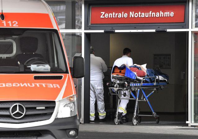 Отделение скорой помощи в одной из больниц Дюссельдорфа, Германия