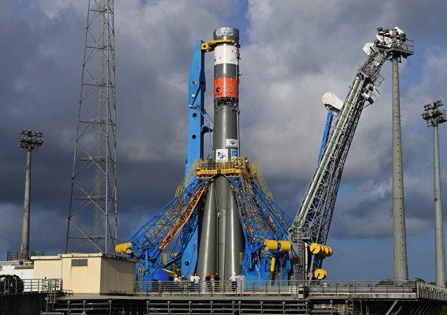 联盟-ST号运载火箭在法属圭亚那库鲁航天发射场