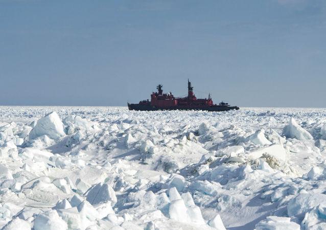 """俄将耗资1000亿多卢布新建两艘""""北极""""号原子能破冰船"""