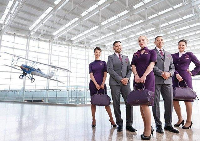 達美航空公司的空姐抱怨因新制服導致出現斑疹