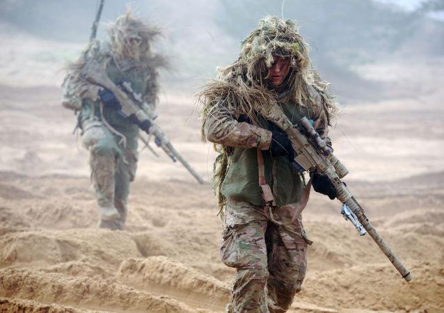 北约军人在拉脱维亚军演