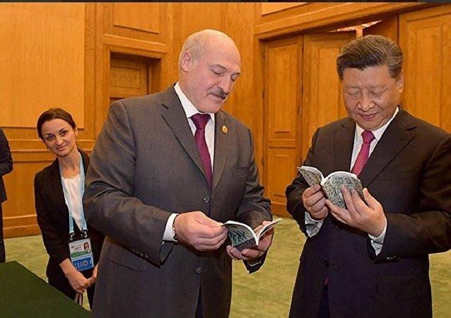 白俄羅斯總統盧卡申科會見習近平