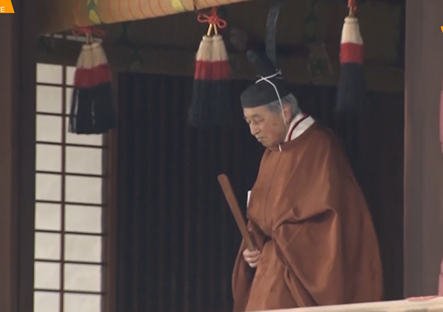 日本明仁天皇退位