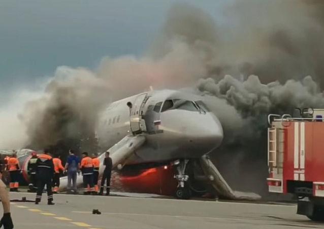 俄航:SSJ100客机在谢列梅捷沃机场失事时无法升起扰流板