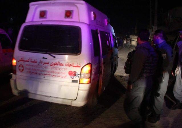 阿富汗坎大哈警局楼前的爆炸事件造成9死60伤