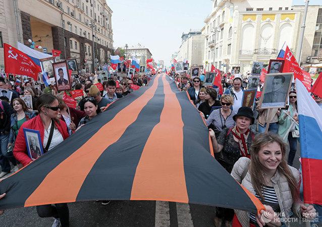 英國人講述他們為甚麼來莫斯科參加「不朽軍團」遊行