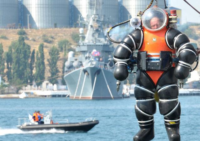 黑海舰队的潜水员
