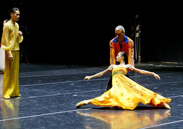 上海芭蕾舞团的彩排