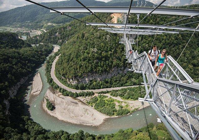 俄羅斯索契的懸索橋「天空之橋」