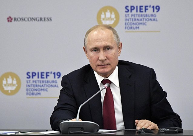 普京与外国公司领导人对话