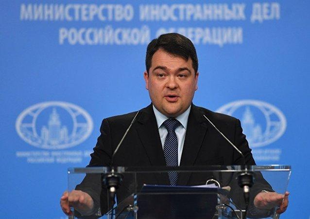 俄羅斯外交部新聞司副司長阿爾喬姆·科任(資料圖片)