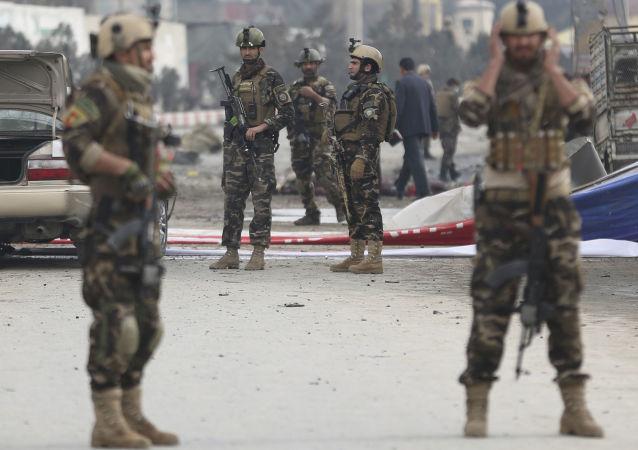 阿富汗警察员(资料图片)
