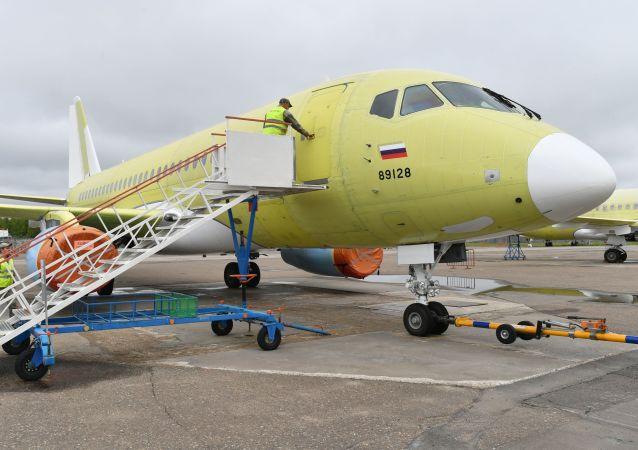 SSJ-100客機在阿穆爾河畔共青城加加林飛機製造廠