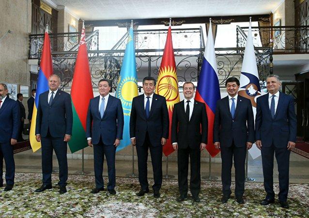 Премьер-министр РФ Д. Медведев принял участие в заседании Евразийского межправительственного совета стран ЕАЭС