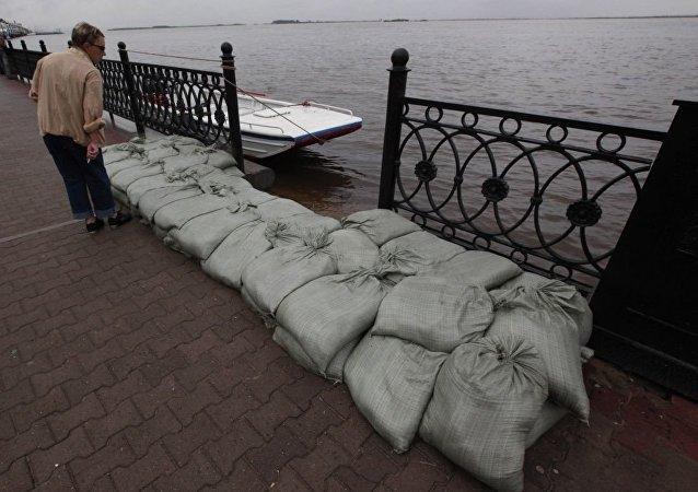 俄阿穆爾州因洪水導致道路大規模被毀而實行緊急狀態