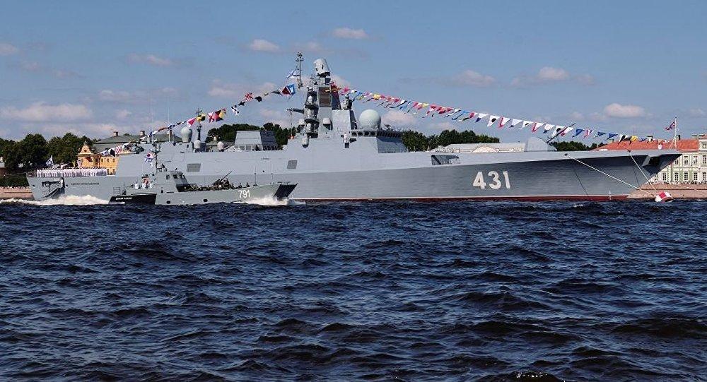 俄海軍兩艘大型登陸艦快速進入地中海