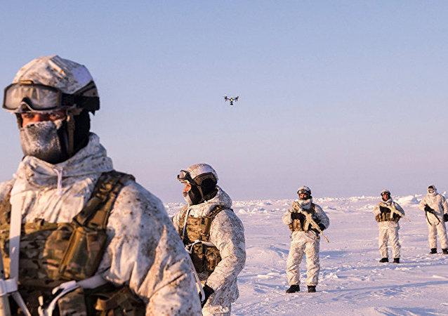 俄羅斯軍隊在北極