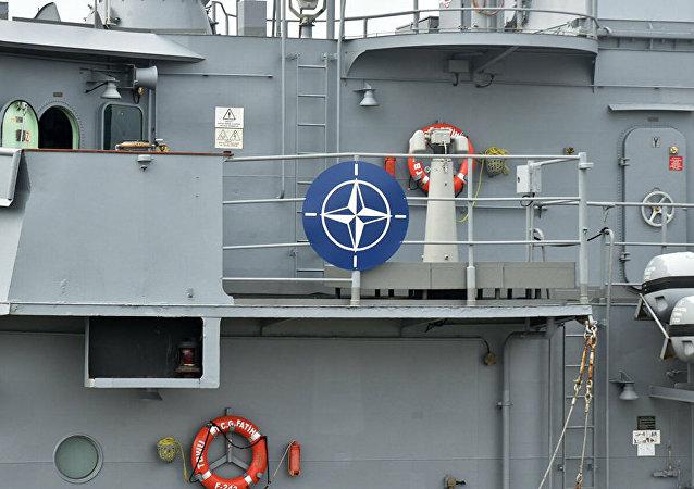 Турецкий фрегат Fatih, прибывший с группой кораблей НАТО в порт Одессы